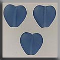 12274 - Channeled Heart Matte Montana 8mm - 3 per pkg